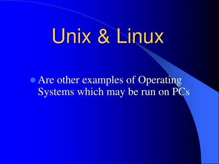 Unix & Linux