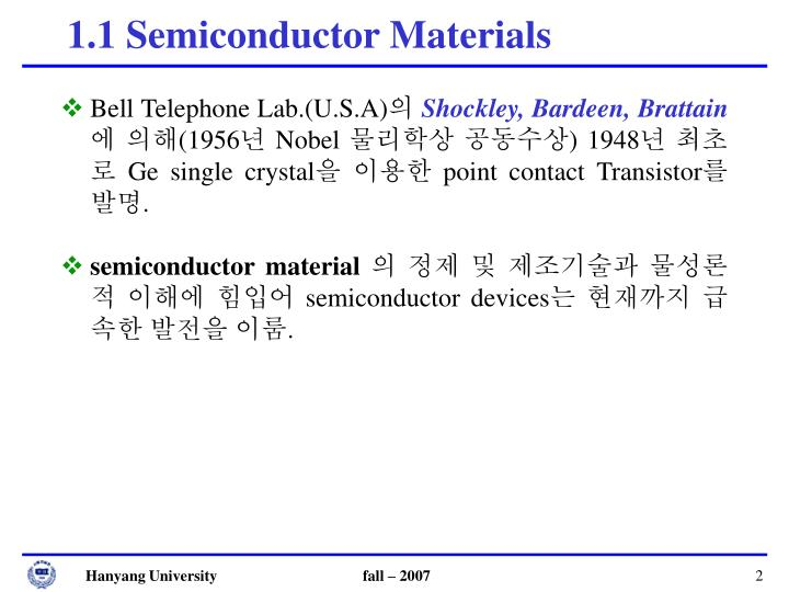 1 1 semiconductor materials