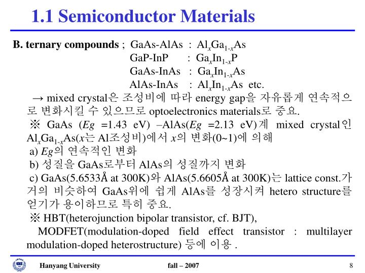 1.1 Semiconductor Materials