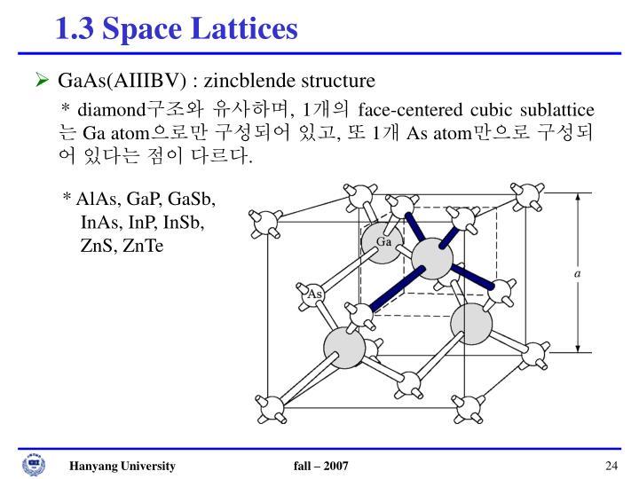 GaAs(AIIIBV) : zincblende structure
