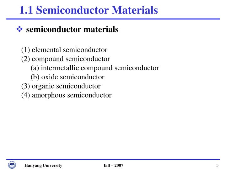 semiconductor materials