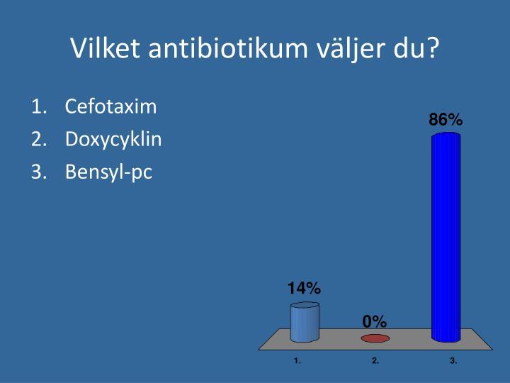 Vilket antibiotikum väljer du?