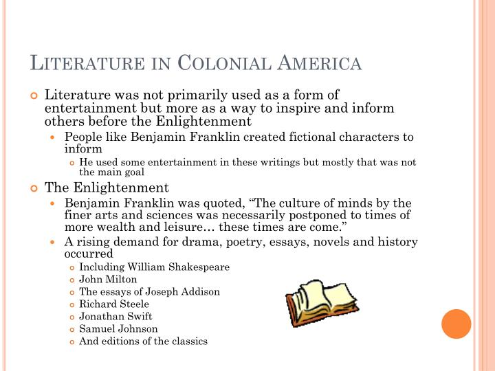 Literature in Colonial