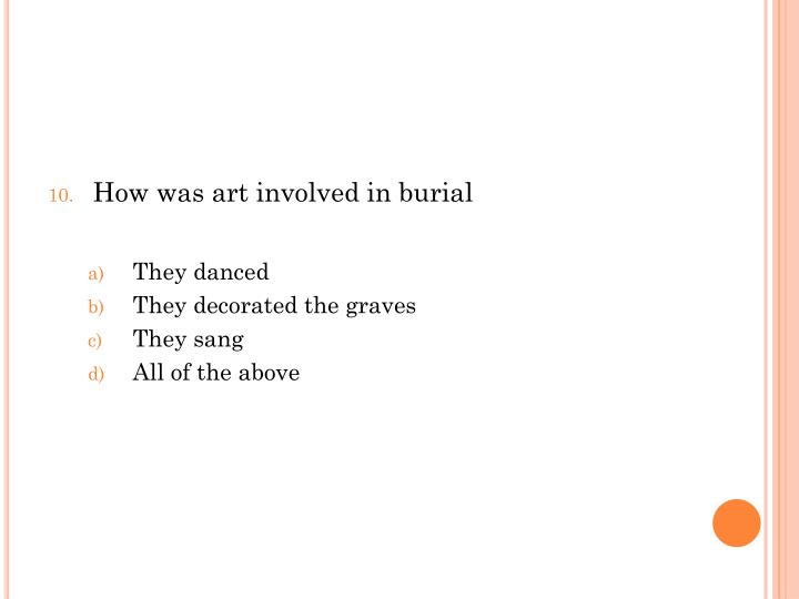 How was art involved in burial