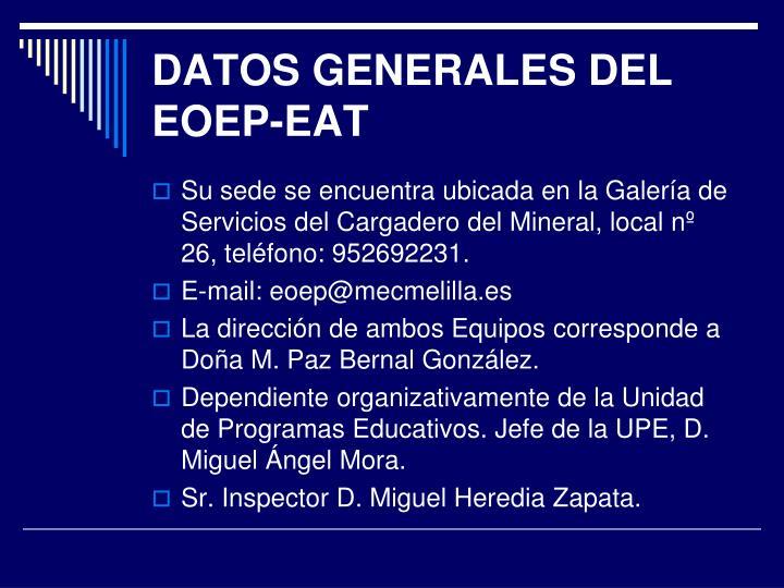 DATOS GENERALES DEL EOEP-EAT