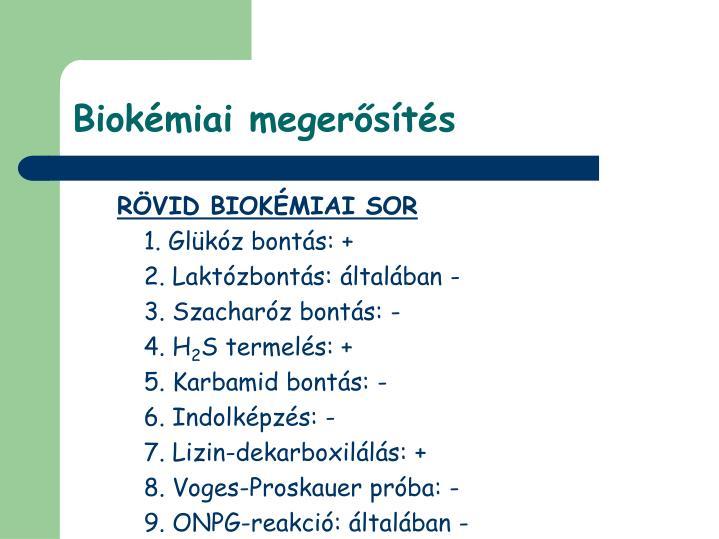 Biokémiai megerősítés