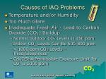 causes of iaq problems