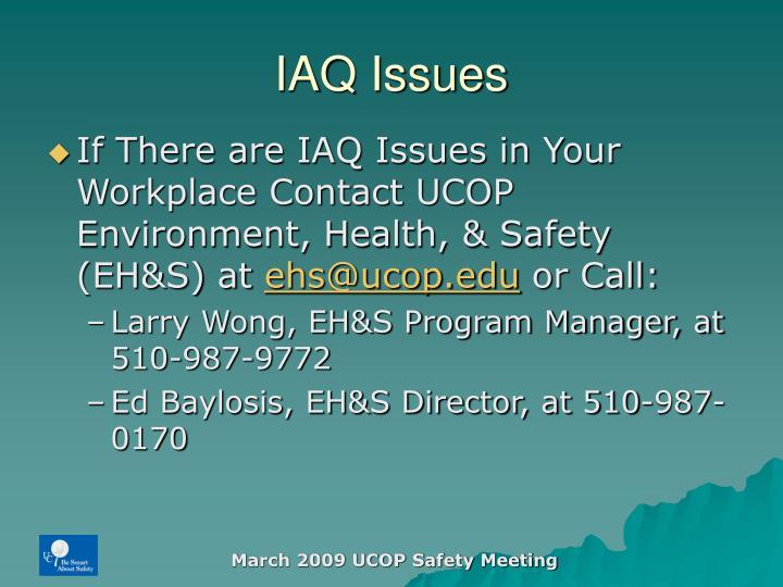 IAQ Issues