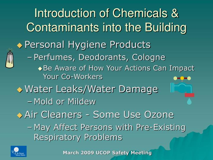Introduction of Chemicals &