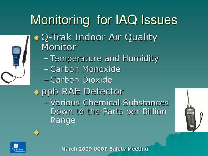 Monitoring  for IAQ Issues