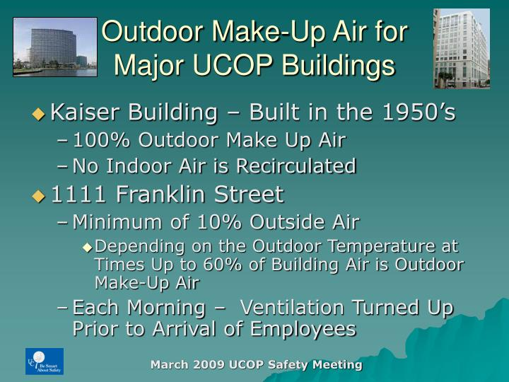 Outdoor Make-Up Air for