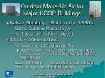 outdoor make up air for major ucop buildings