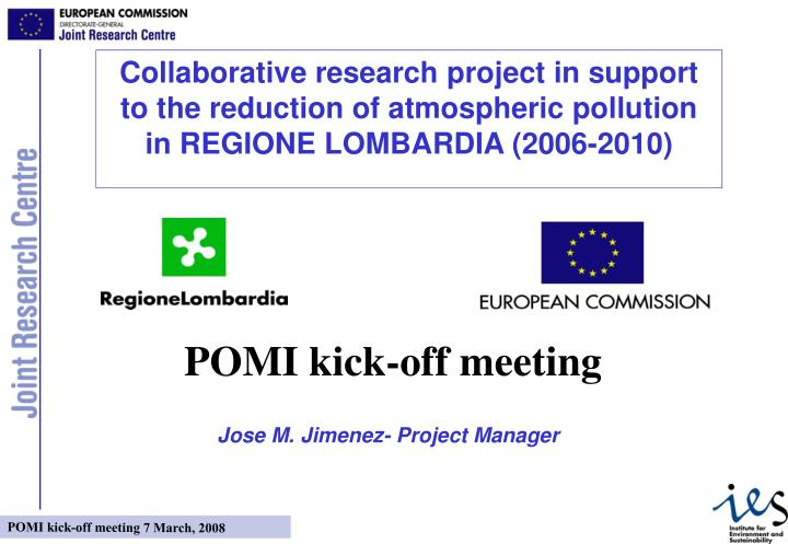 Collaborative research project in support to the reduction of atmospheric pollution in REGIONE LOMBA...