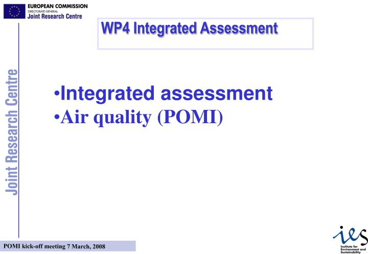 WP4 Integrated Assessment