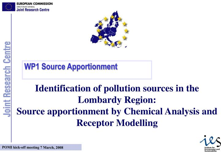 Identification of pollution sources in the Lombardy Region: