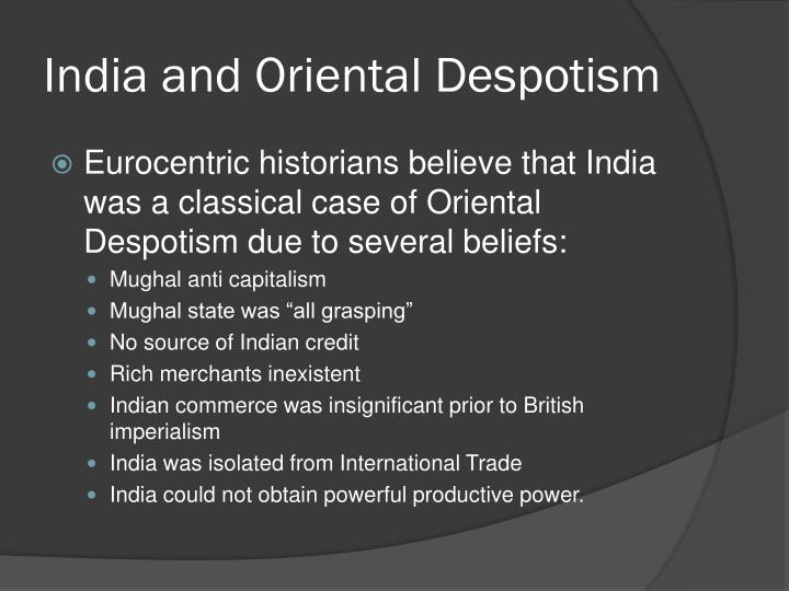 India and Oriental Despotism