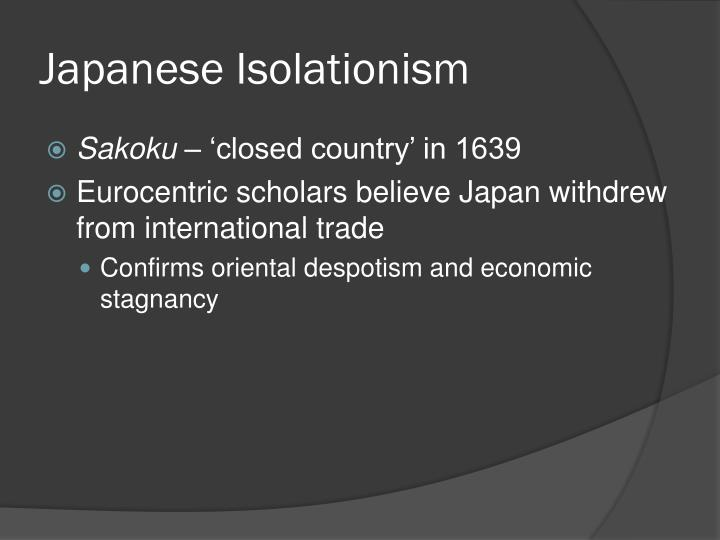 Japanese Isolationism
