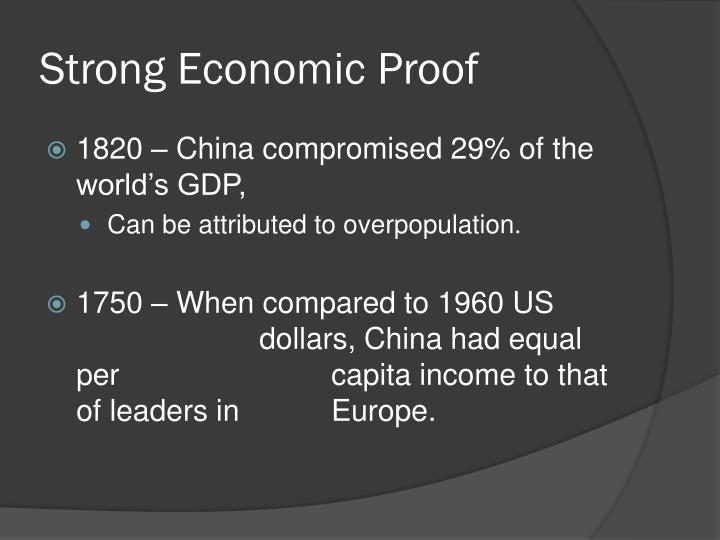 Strong economic proof