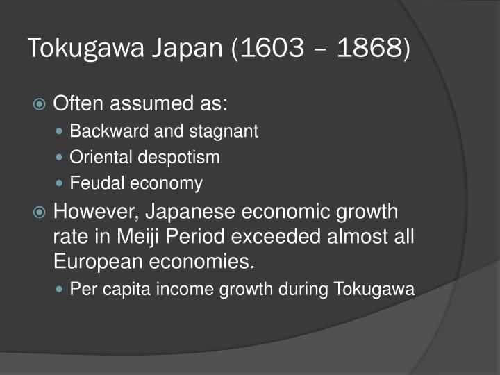 Tokugawa Japan (1603 – 1868)