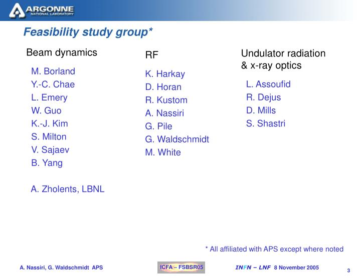 Feasibility study group