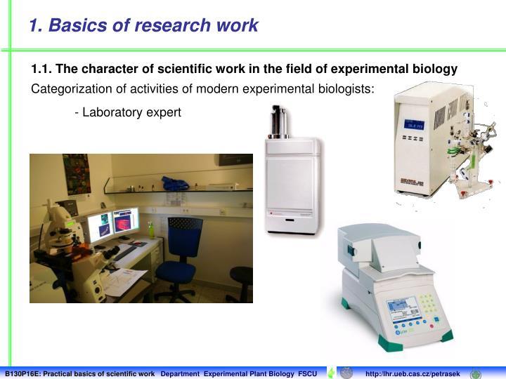 - Laboratory expert
