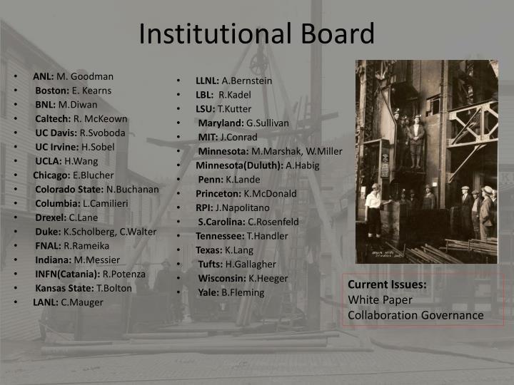 Institutional Board