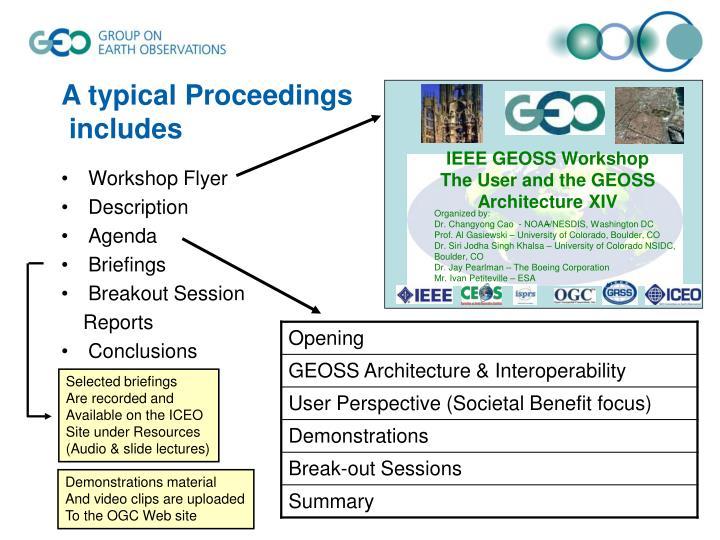 IEEE GEOSS Workshop
