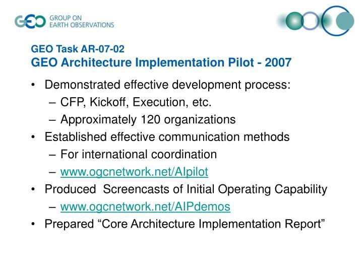 GEO Task AR-07-02