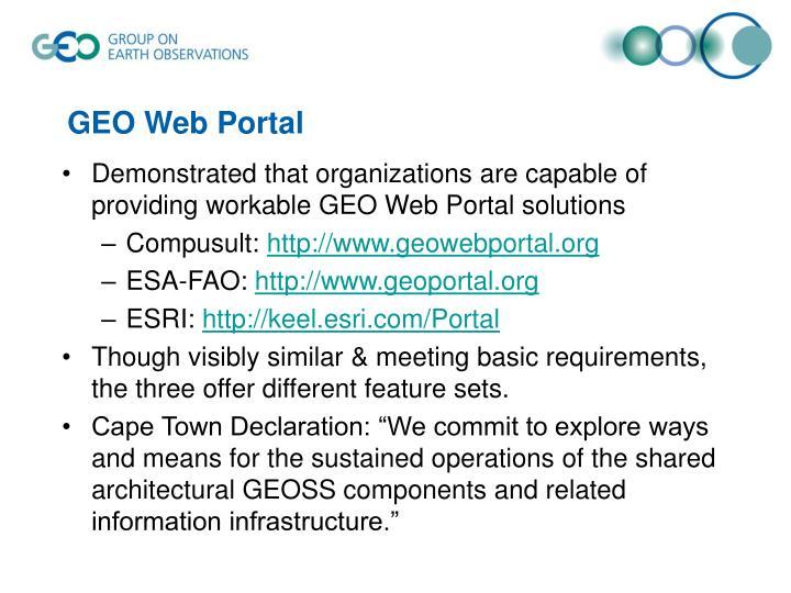 GEO Web Portal