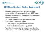 geoss architecture further development