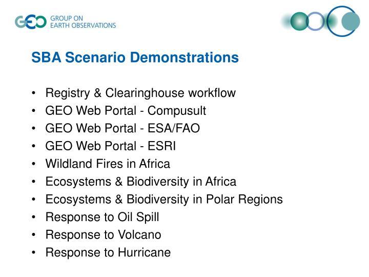 SBA Scenario Demonstrations