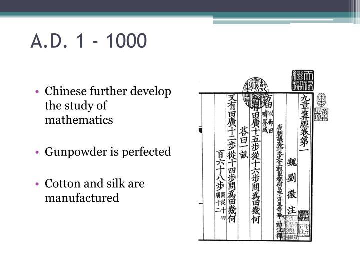 A.D. 1 - 1000