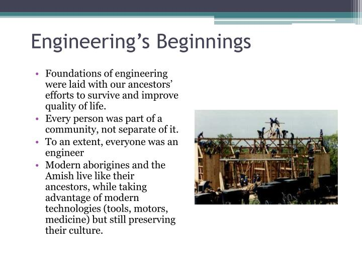 Engineering's Beginnings
