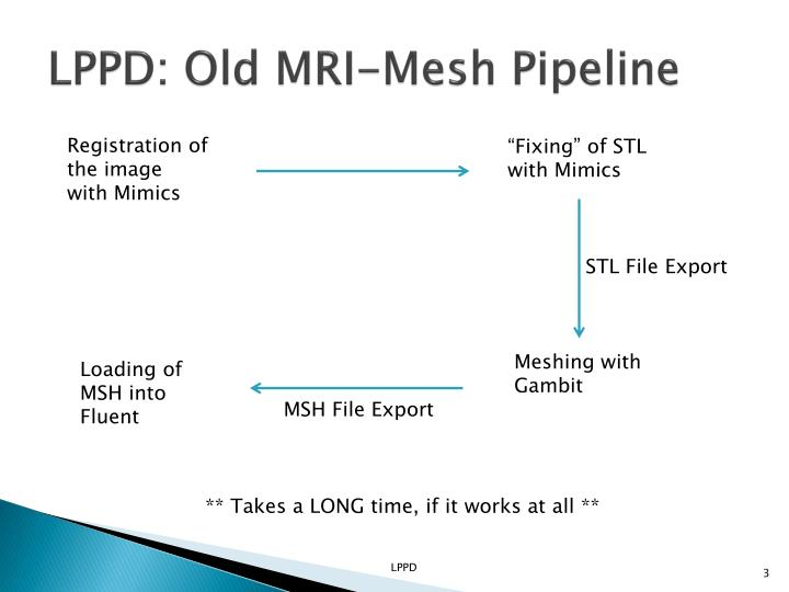 LPPD: Old MRI-Mesh Pipeline