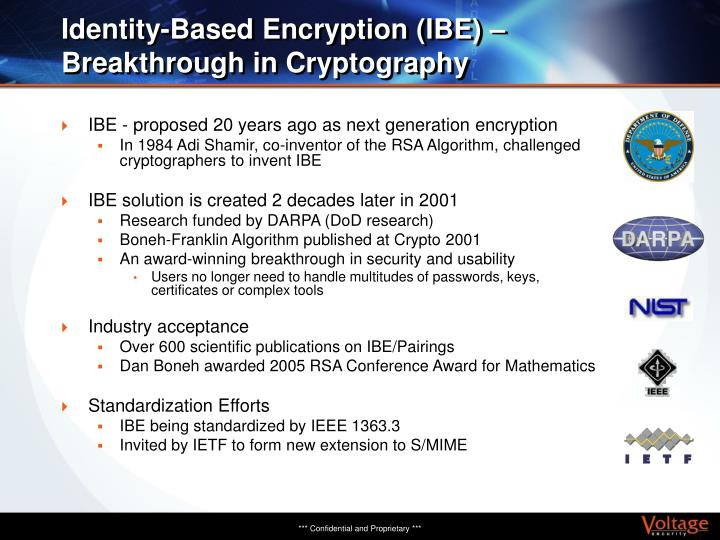 Identity-Based Encryption (IBE) – Breakthrough in Cryptography