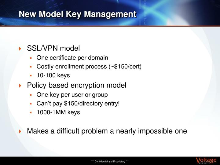 New Model Key Management
