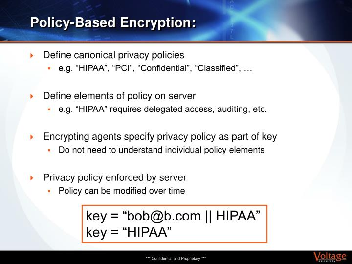 Policy-Based Encryption: