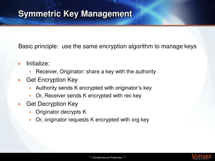 Symmetric Key Management