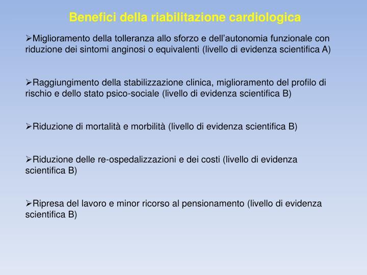 Benefici della riabilitazione cardiologica