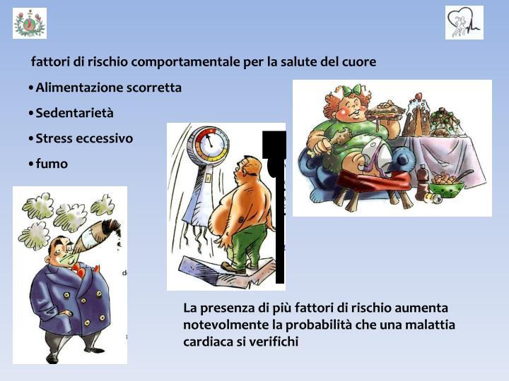 fattori di rischio comportamentale per la salute del cuore