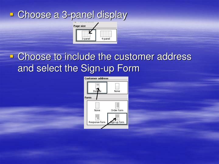 Choose a 3-panel display