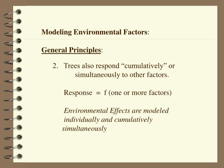 Modeling Environmental Factors