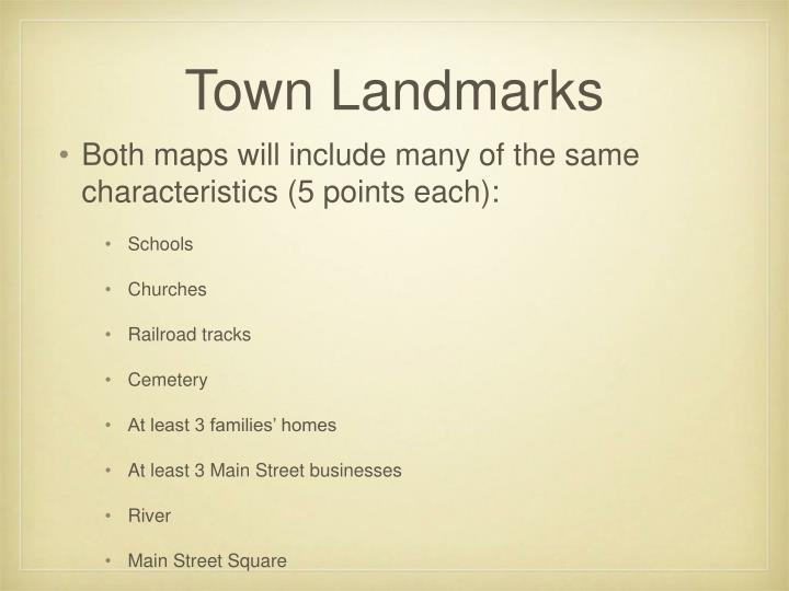 Town Landmarks