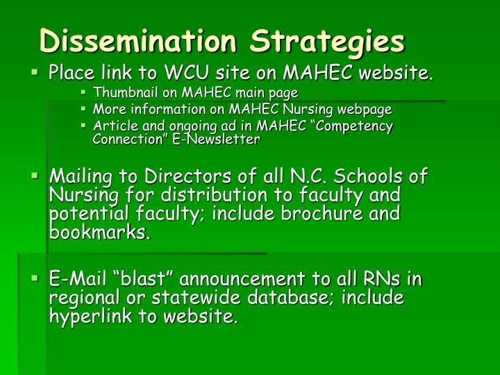 Dissemination Strategies