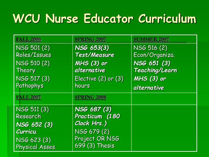 WCU Nurse Educator Curriculum