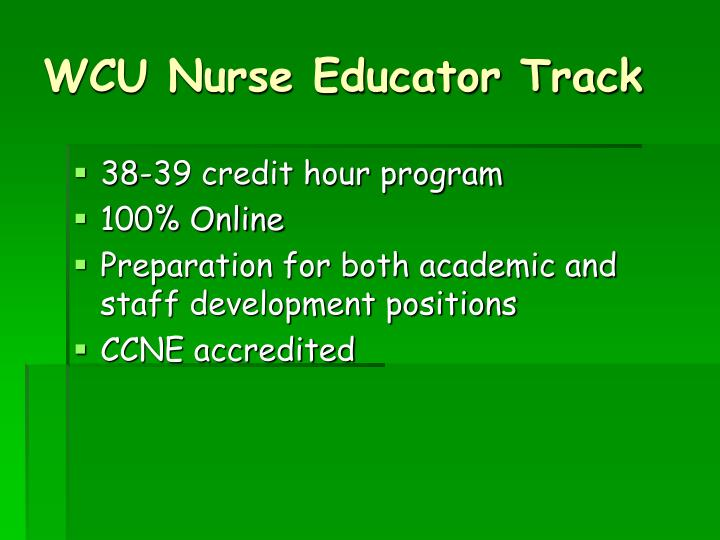 WCU Nurse Educator Track