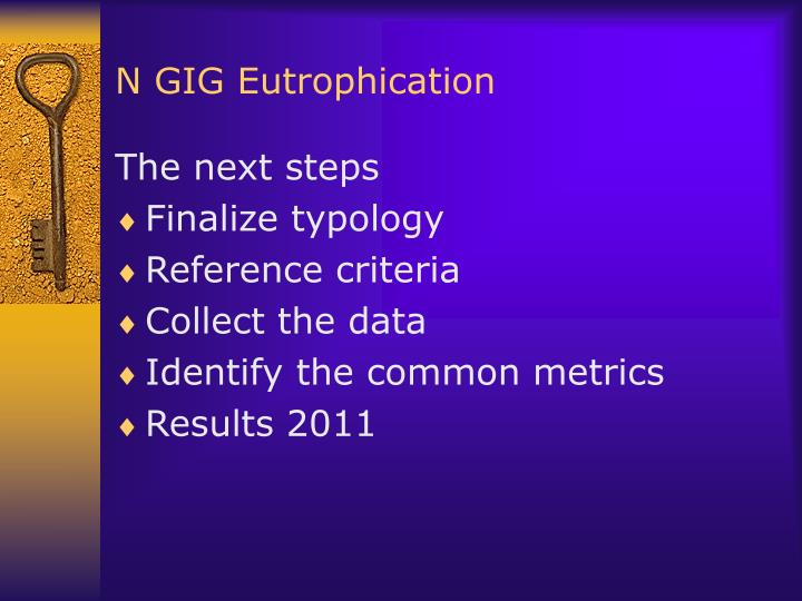 N GIG Eutrophication