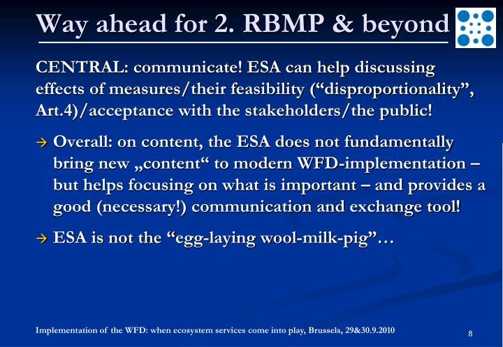 Way ahead for 2. RBMP & beyond