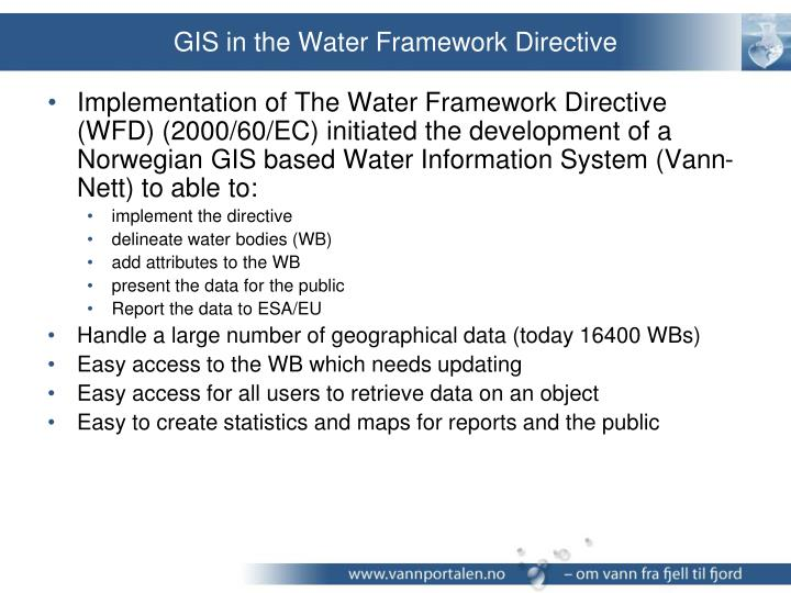 GIS in the Water Framework Directive