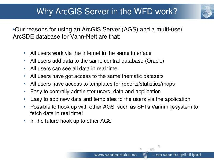 Why ArcGIS Server in the WFD work?